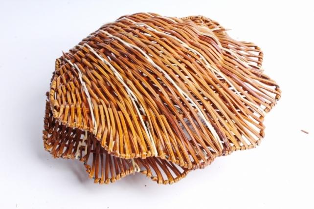 Плошка плетеная ( бамбук) - Ракушка малая коричневая