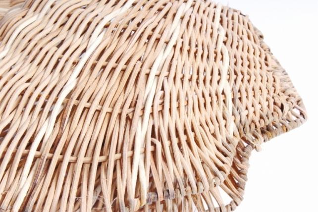 Плошка плетеная ( бамбук) - Ракушка малая натуральная