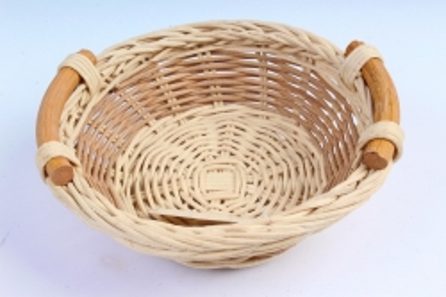 Плошка плетеная (бамбук) - Круг белый