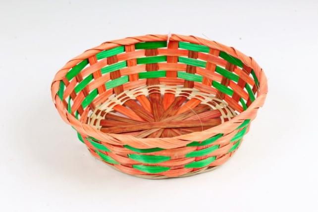Плошка плетеная (бамбук) - Круг  оранжевый 1140 М