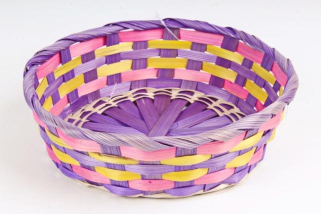 Плошка плетеная (бамбук) - Круг   фиолетовый 1157 М