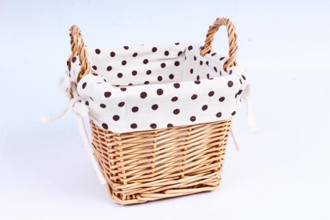 Плошка плетеная (бамбук) - Квадрат глубокий ткань декор