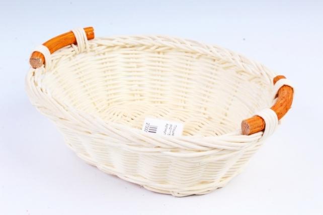 Плошка плетеная (бамбук) - Овал белый