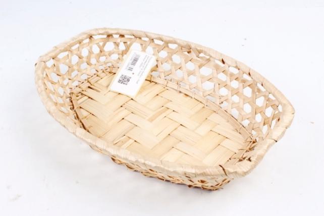 Плошка плетеная (бамбук) - Ромб коричневый