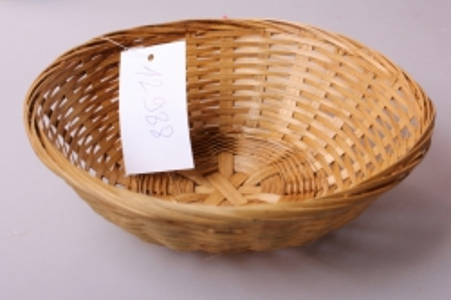 Плошка плетеная (бамбук) коричневая d=19, h=5см 8604