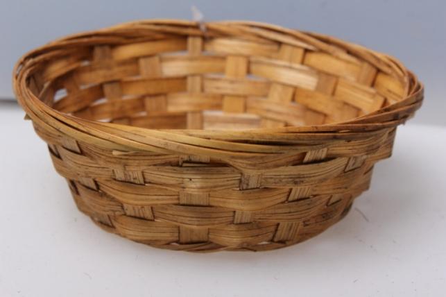 Плошка плетеная (бамбук) коричневый d=15, h=4см 8581