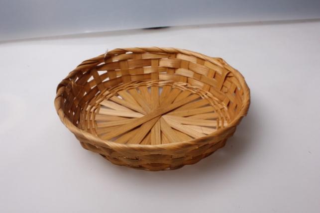 Плошка плетеная (бамбук) коричневый, d=23, h=4см 1шт 8703