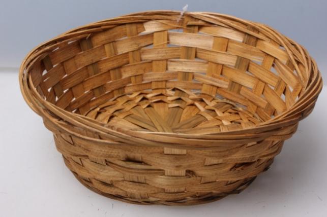 Плошка плетеная (бамбук) коричневый d=23, h=8см 8529