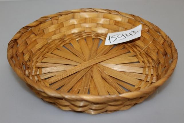 Плошка плетеная (бамбук) коричневый, d=26, h=4,6см  1шт 8727