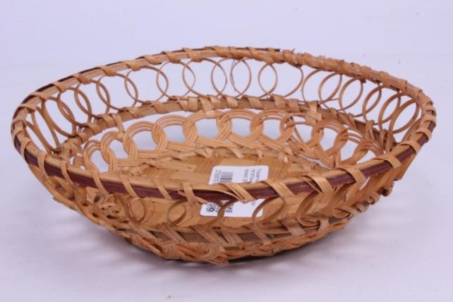 Плошка плетеная ( бамбук) - Круг  19*19*5см