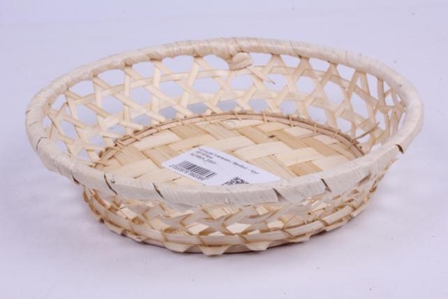 Плошка плетеная ( бамбук) - Круг  d=19 h=4cm