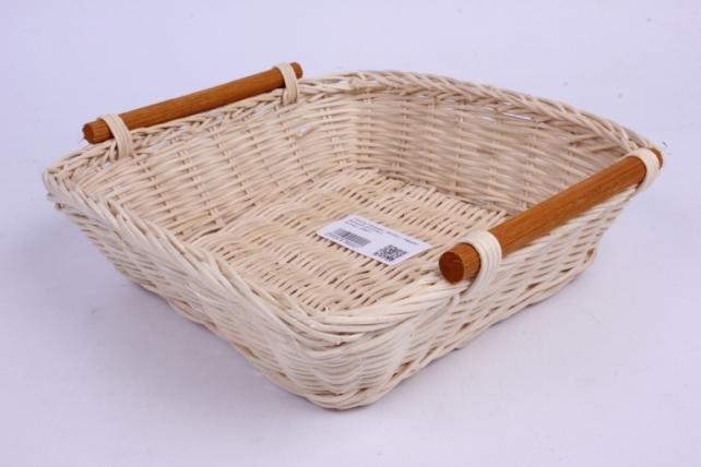 Плошка плетеная ( бамбук) - Квадрат большой 23*23*6см