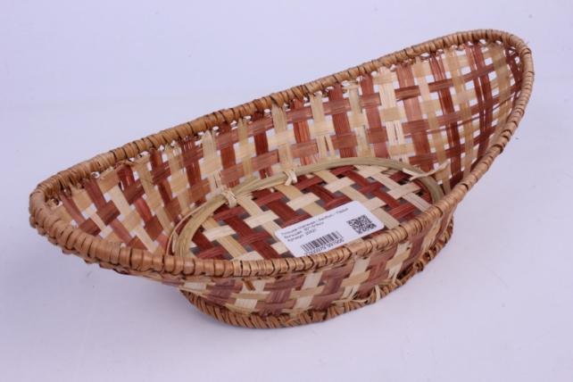 Плошка плетеная ( бамбук) - Ладья большая  30*15*8см