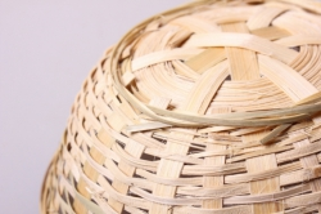 плошка плетеная (бамбук) натуральная  d=19, h=5см 8598