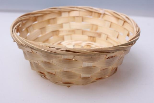 Плошка плетеная (бамбук) натуральный d=15, h=4см 8574