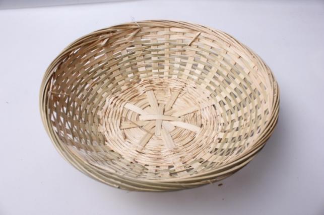 Плошка плетеная (бамбук) натуральный, d=22, h=6см 1шт 8611