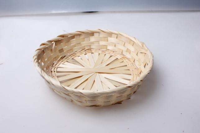 Плошка плетеная (бамбук) натуральный, d=23, h=4см 1шт 8697