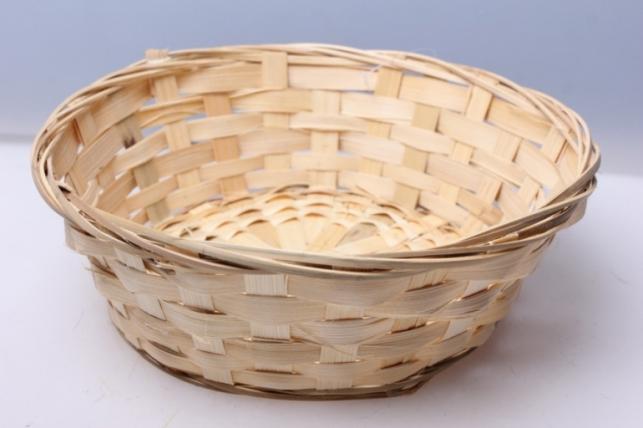 Плошка плетеная (бамбук) натуральный d=23, h=8см 8512