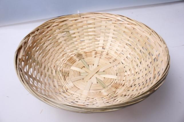 Плошка плетеная (бамбук) натуральный, d=25, h=7см 1шт 8635