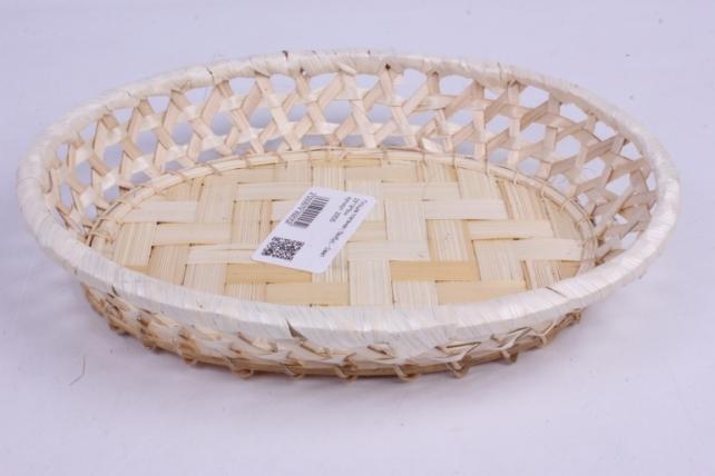 Плошка плетеная ( бамбук) - Овал  23*19*5см