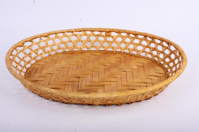 Плошка плетеная ( бамбук) - Овал 32,5x24,5 h=5cm