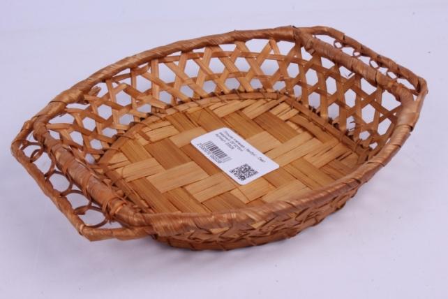 Плошка плетеная ( бамбук) - Овал ажурный 25*20*5см