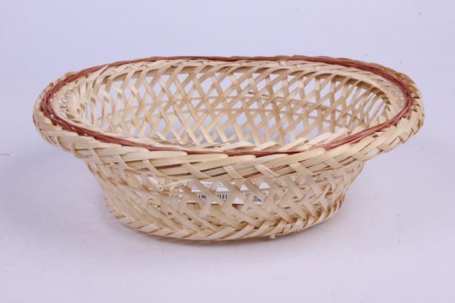 Плошка плетеная ( бамбук) - Овал глубокий  22*16*7см