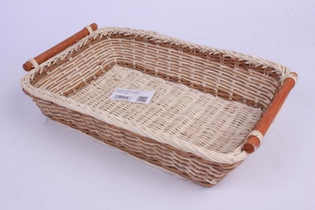 Плошка плетеная ( бамбук) - Прямоугольник 30*20*6см
