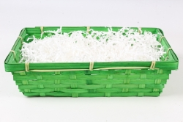 Плошка плетеная (бамбук) Прямоугольник D30х23хН8 см, зеленый  0976