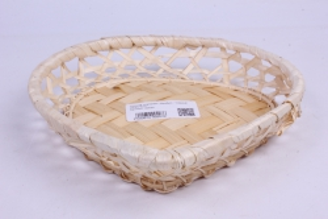 Плошка плетеная ( бамбук) - Сердце  22*21*5см