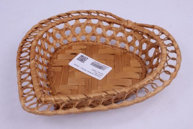 Плошка плетеная ( бамбук) - Сердце  23*21*5см