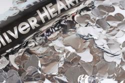 Пневмохлопушка (12/30 см), Металлизированные сердца, Серебро, 1 шт.823121