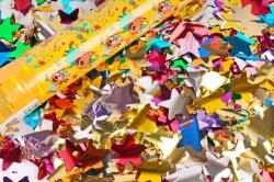 Пневмохлопушка (12/30 см), Три Кота, Металлизированные звезды, Ассорти, 1 шт.823103