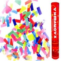 Пневмохлопушка 40см бумажное конфетти