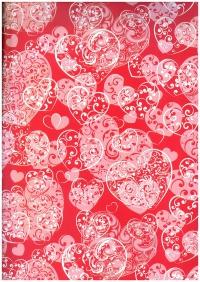 Подарочная бумага ГЛЯНЦ - Ажурные сердца (код 100/451)