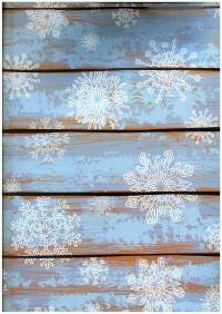 Подарочная бумага - Глянец 100/213 - Новый Год - Снежный заборчик 0,7х1м (10 листов)