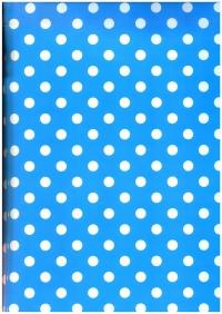 Подарочная бумага - Глянец 101/01-50 - Геометрия - Горох лазурь 50х70см (10 листов)