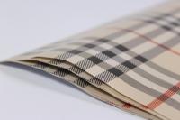 подарочная бумага - глянец шотландка бежевая 0,7х1м в листах (10 листов)  м