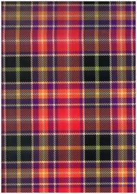 Подарочная Бумага - ГЛЯНЕЦ Шотландка Красная  0,7х1м в листах (10 листов)  М