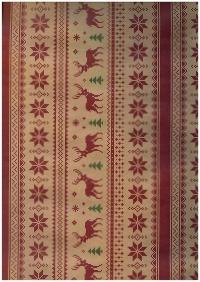 Подарочная бумага - Крафт 203/107 - Новый Год - Норвежский стиль 0,7х1м (10 листов)