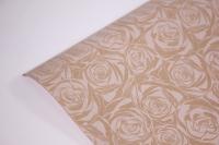 подарочная бумага крафт 203/474 розочки контурные 0,7*1м в лист. (10 лист.)