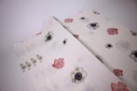 подарочная бумагакрафтанемонылист60*60см.(20л/пач)белый