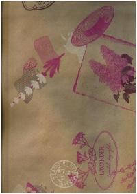Подарочная Бумага Крафт Цветы и буквы розовые (60гр х700мм, рулон 10м) Беларусь