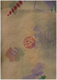 Подарочная Бумага Крафт Цветы и буквы сиреневые (60гр х700мм, рулон 10м) Беларусь