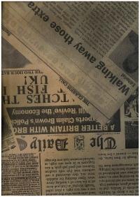 подарочная бумага крафт газета чёрная (60гр х700мм, рулон 10м) беларусь