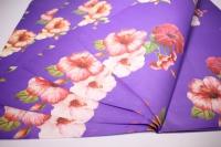 подарочная бумагакрафтгибискуслист60*60см.(20л/пач)фиолетовый