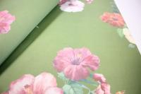 подарочная бумагакрафтгибискуслист60*60см.(20л/пач)зеленый