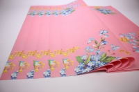 Подарочная БумагаКрафтНезабудкилист60*60см.(20л/пач)розовый