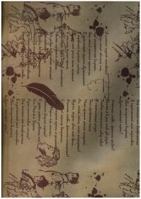 Подарочная Бумага Крафт Пушкин бородо (60гр х700мм, рулон 10м) Беларусь