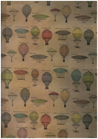 Подарочная Бумага - КРАФТ  Воздушные шары 0,7х1м (10 листов) М